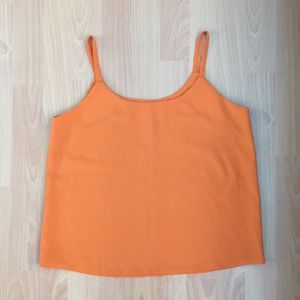 Brand New Orange Reformation Chiffon Tank Top